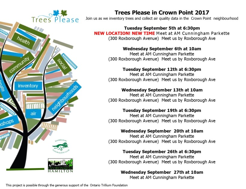 TP Schedule Crown Point September 2017