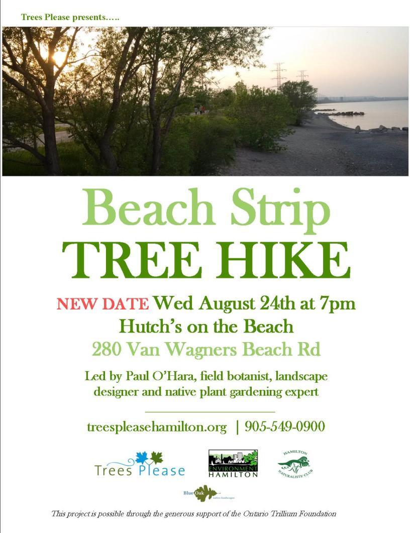 Trees Hike Beach Strip NEW DATE Aug 2016