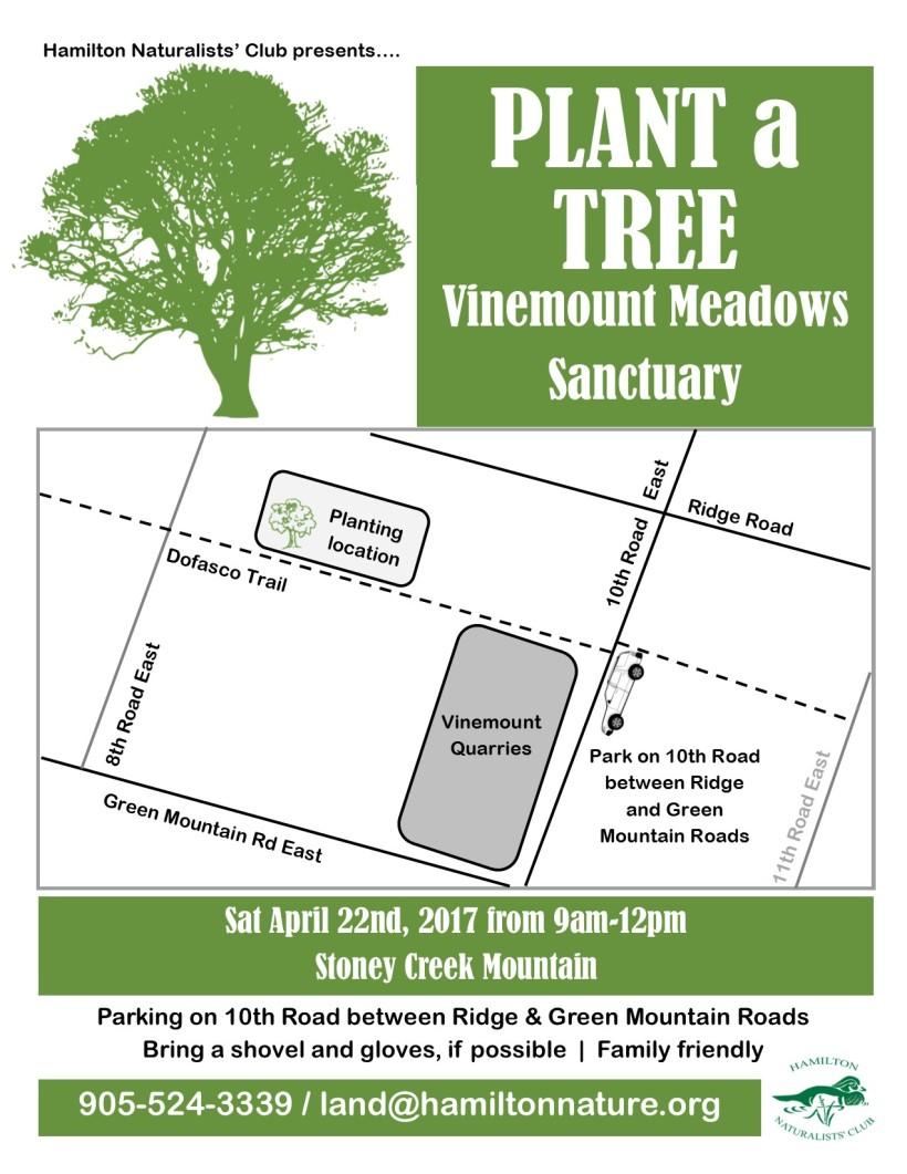 Vineland Tree Planting Poster