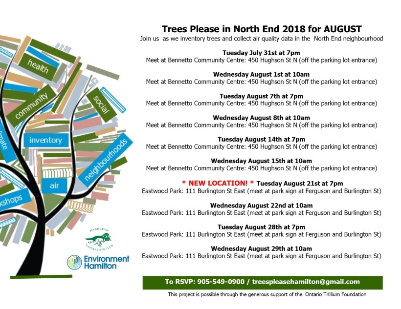 TP Schedule North End AUGUST 2018