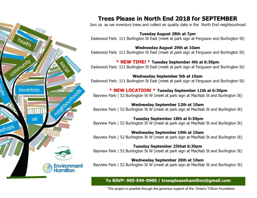 TP Schedule North End SEPT 2018